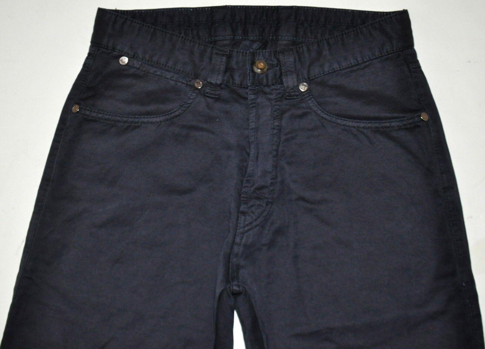 Ermenegildo Zegna Navy Linen Blend Straight Jeans Size Tag 30 (W29