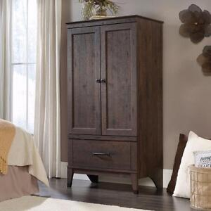 Image Is Loading Wardrobe Closet Wood Armoire Clothes Storage Cabinet  Bedroom