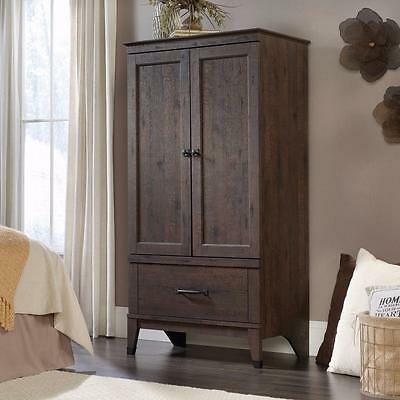 Wardrobe Closet Wood Armoire Clothes Storage Cabinet Bedroom Furniture  Rustic