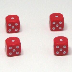 Set-of-Four-Red-Dice-Dust-Caps-Snake-Eyes-X4-80s-Retro-Valve-Caps-BMX