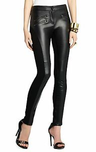 598c64e9dde68 Image is loading BCBGMAXAZRIA-SEXY-FAUX-LEATHER-BLACK-STEPHEN-MOTO-BIKER-