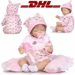 NEU Reborn Puppen Baby 28cm Lebensecht Handgefertigt Weich Silikon-Vinyl Mädchen