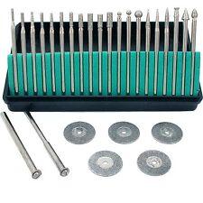 Diamond Burs Cut Off Wheels Jewelers Lapidary Craft Jewelry Repair Tools 27Pcs
