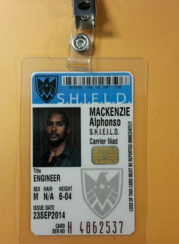 Agents Of Shield ID Badge Alphonso MacKenzie cosplay prop costume