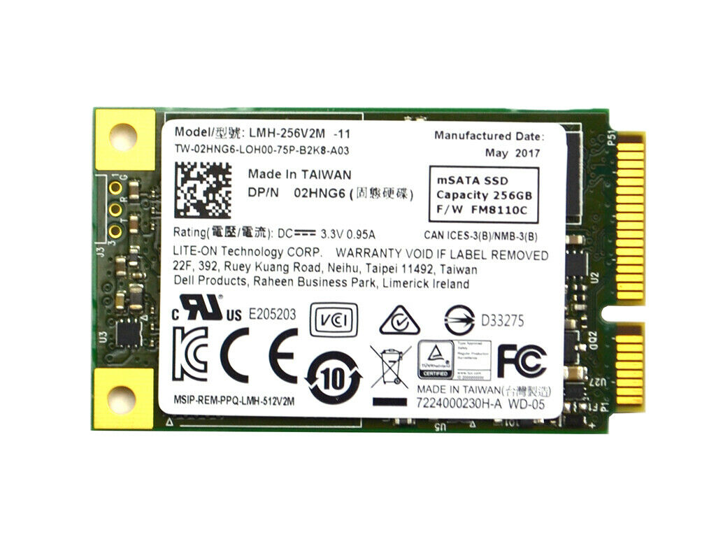 LITE-ON LMH-256V2M 256GB MLC SATA 6GB/S MSATA INTERNAL SOLID STATE DRIVE 2HNG6. Buy it now for 34.91