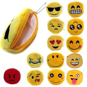 Cute-Emoji-Coin-Purse-Soft-Plush-Small-Pouch-Mini-Smile-Wallet-Womens-Card-ID