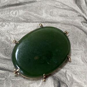 Jade-de-antigua-victoriana-Antique-Victorian-fino-jade-039-Ruan-Yu-039-Oval-broche-de-oro-amarillo