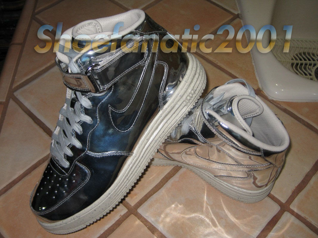 Nike air force one metà lunare sp metallo liquido silver undftd supremo schiuma 10