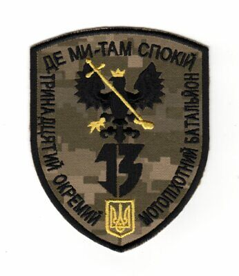 Army Tactical Morale Patch Separate Intelligence Battalion Flying Bat Tryzub