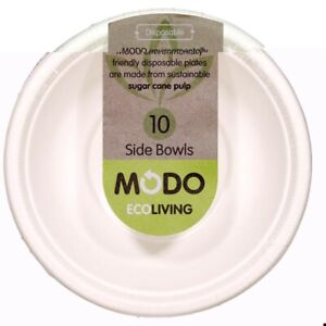Modo Eco Living Sugarcane Pulp Disposable Side Bowls 10 pack