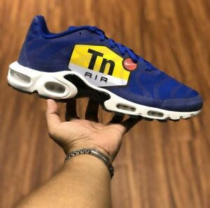 d179633e07 NIKE AIR MAX PLUS NS GPX AJ7181-400 HYPER BLUE/BLACK/WHITE BIG LOGO ...