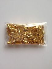100 PCS Gold Plated Copper Chain End Caps Crimp Cord Jewelry Tools Making 74G