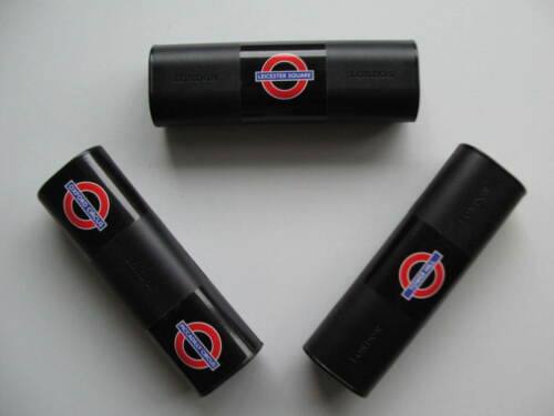 3 x PENCIL BOX CASES LONDON TUBE MAGIC TRICK STATIONERY STORAGE HARD COLOR