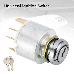 12V-Universal-Ignition-Switch-amp-2-Keys-For-Car-Lawnmower-Boat-Classic