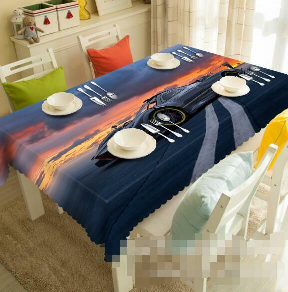 3D Cloud Car 6 Tablecloth Table Cover Cloth Birthday Party Event AJ WALLPAPER AU