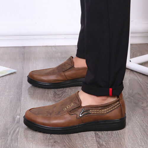 Details about  /Formal Father Loafer Slip on Mens Business Work shoes Casual Shoes Breathable