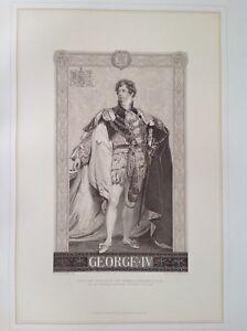 King-George-IV-Antique-Print-c1878-England-Windsor-Castle-Lawrence-Royalty