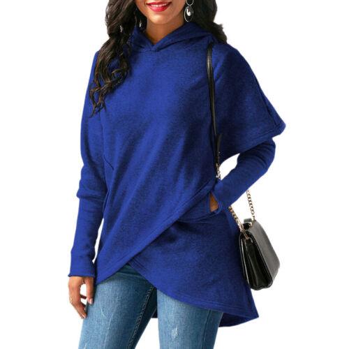 Tops Hooded Dress Sleeve Jumper Hoodies Sweater Womens Long Sweatshirt Pullover