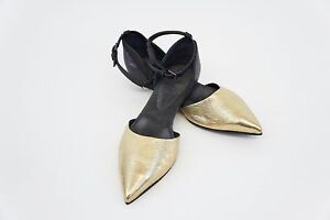 NWD-1095-Brunello-Cucinelli-2-Tone-Leather-Monili-Ankle-Strap-Flats-37-7US-A176