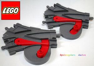 Rail Switch 2x Lego Duplo Fits Train Tracks 5608 5609 10507 10508 3775
