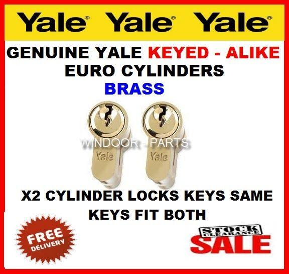 X2 clés-alike Yale euro cylindre PVC PVC cylindre porte barillet serrure 1a0acb