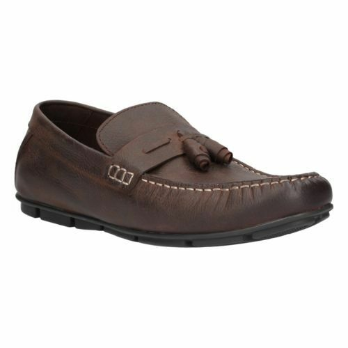 Clarks Ettrick Walk Brown Leather Men's Shoes in Size UK8.5 (/ (/ UK8.5 US9.5M) 419324