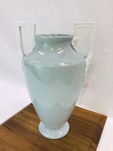 Vtg-Neoclassical-Art-Deco-Porcelain-Pottery-Vase-Urn-Greek-Blue-Green-White-14-039-039