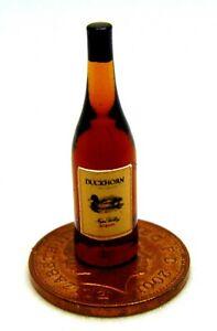 Actif Échelle 1:12 Bouteille En Verre Avec Un Duckhorn Merlot Vin étiquette Tumdee Maison De Poupées-afficher Le Titre D'origine