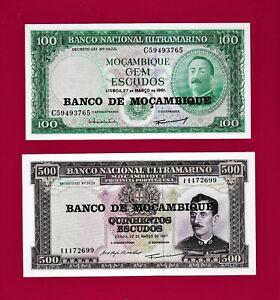 MOZAMBIQUE 100 ESCUDOS 1961 UNCIRCULATED P 117 1976