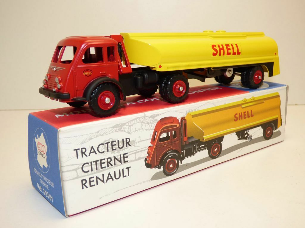 Camion TRACTEUR CITERNE RENAULT FAINEANT SHELL CIJ