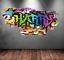 Colorful 3D Graffiti  Personalized Vinyl Wall Sticker DIY Room Decor Kids