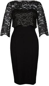 New-MONSOON-12-22-Black-Gold-Lace-MADINEH-3-in1-Shift-Dress-amp-Bolero-Top-Jacket
