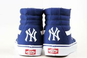 7516b49aae vans mlb new york yankees sk8-hi undefeated shoe NAVY SIZE 9.5 OR 10 ...