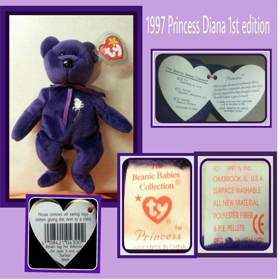Princess Diana beanie babies 1997