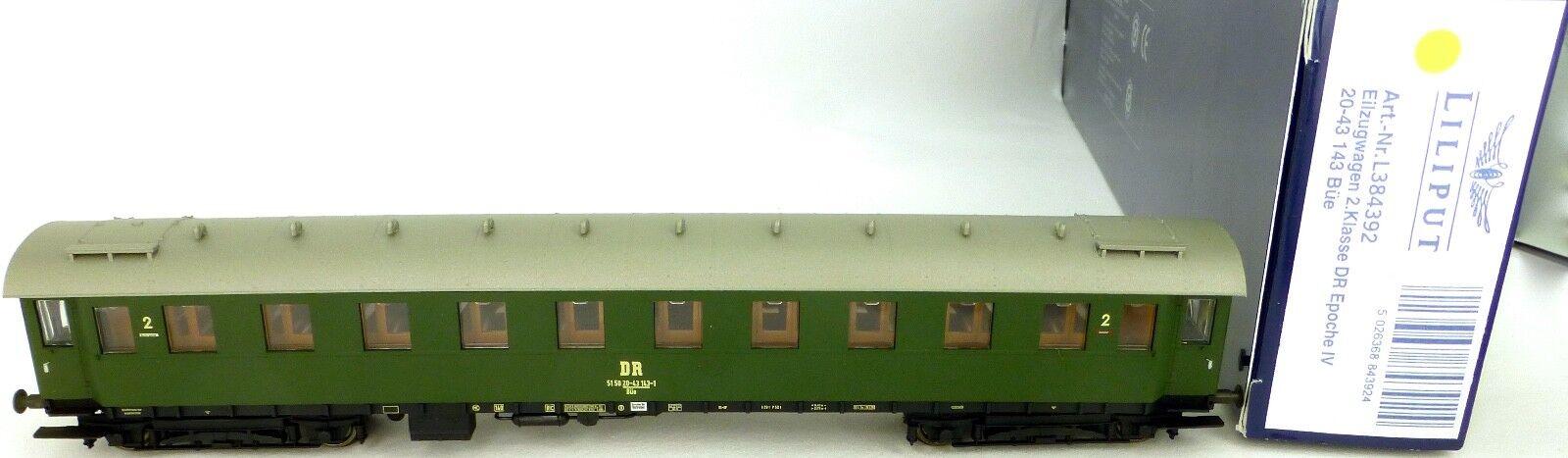 Liliput L384392 Eilzugwagen 20-43 143 Büe 2te Kl DR EpIV OVP H0 µ