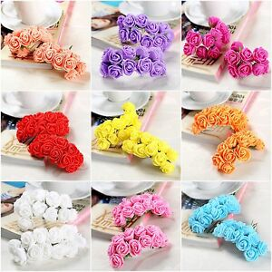 Foam-Mini-Roses-Head-Buds-Small-Flower-Wedding-Home-Party-Decorations-72-144