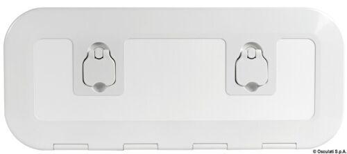 Osculati White Flush Inspection hatch 600 x 250 mm 20.295.00 Inc Key /& Lock