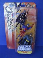 Dc Superheroes Justice League Unlimited: Batman, The Atom & Huntress 3 Pack
