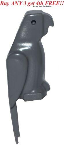 ☀️NEW Lego Friends Animal Pet Dark Bluish GRAY PARROT Statue Pirate Minifig Bird