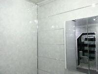 12 Light Grey Marble Interior Bathroom Cladding Gloss Wall Panels Reduced