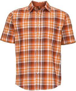 Marmot-Notus-Camiseta-Manga-Corta-Camisa-funcional-para-hombre-vintage-naranja