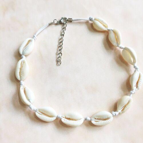 Boho Bohemian Sea Shell Beaded Pendant Chain Choker Necklace Beach Jewelry Sy02