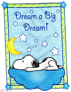 Baby snoopy moon wall safe sticker star set border cut out 7 to 10.5 inch
