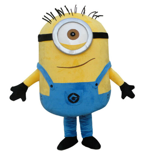 Adult Size Minions Despicable Me Mascot Costume Halloween Character Kevin Stuart