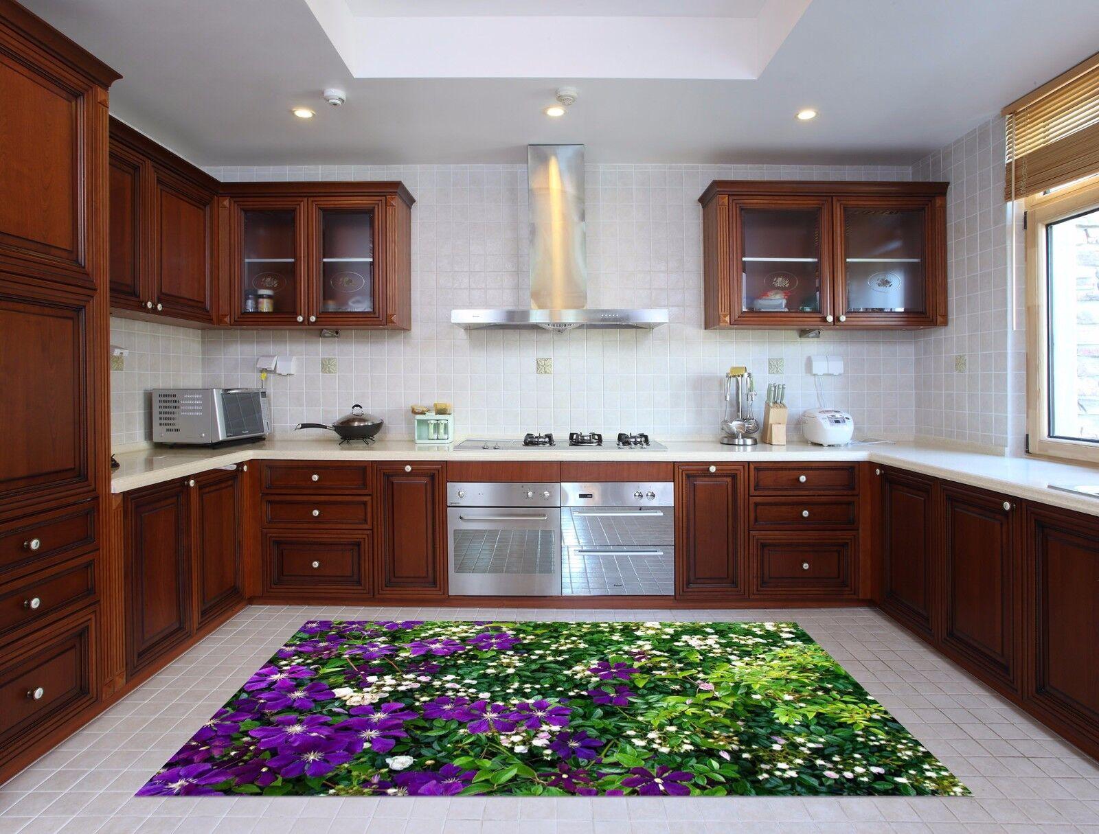 3D Leaves Flowers2 Kitchen Mat Floor Murals Wall Print Wall AJ WALLPAPER UK Kyra