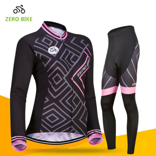 Women/'s Outdoor Cycling Jersey Pants Set Bike Bicycle Sport Clothing Wear Suits