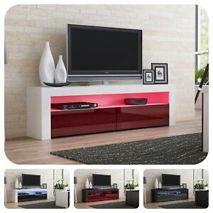 Details Sur Moderne Meuble Tv Avec Televiseur De 157 Cm Porte Brillante 8 Couleurs M15