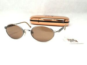 JEAN PAUL GAULTIER 56-0006 sunglasses grey brass brown oval small vintage