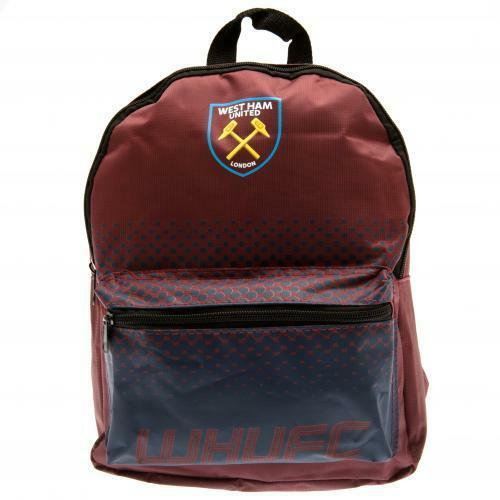 West Ham United FC Official Crested Junior Nylon Backpack School Bag