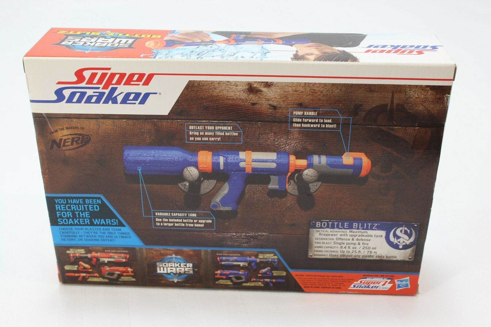 NEW IN IN IN BOX - Hasbro Super Soaker BOTTLE BLITZ Water Pistol BLASTER bluee 20896 12498e
